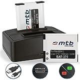 2 Baterías + Cargador doble (USB) para DMW-BCM13 /Panasonic Lumix DMC-FT5, TS6, TZ37, TZ40, TZ60, TZ70, TZ71, ZS30, ZS40.. - v. lista