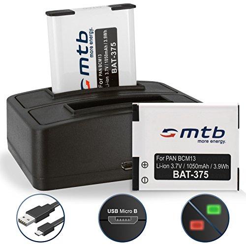 2 Akkus + Dual-Ladegerät (USB) für DMW-BCM13 /Panasonic Lumix DMC-FT5, TS6, TZ37, TZ40, TZ60, TZ70, TZ71, ZS30, ZS40. - s. Liste