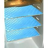 Khushi Creation Refrigerator Drawer Mats/Fridge Mats/Refrigerator Mats Set Of 6 Pcs In Coin Design (Sky Blue) (FRDM16)