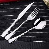Couverts, en acier inoxydable haut de gamme réutilisable nourriture occidentale cuillère à café Set couteau fourchette cuillère Camping table de voyage/survie (service pour 2)