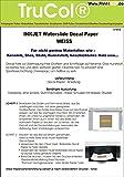5 Blatt Inkjet Tintenstrahl Wasserschiebefolie Decal Papier Transfer Folie Din A4 weiß