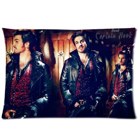 soft-zippered-pillowcase-pillow-case-cover-2030-inch-two-side-printing-once-upon-a-time-captain-hook