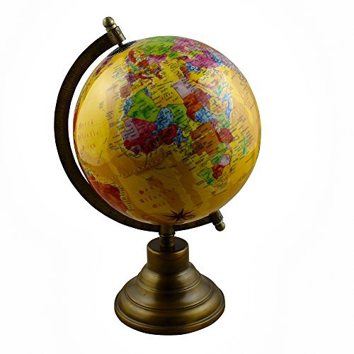 RoyaltyRoute Desktop Earth Globe World Map with Stand Learning Resources for Kids & Teachers, Office & School