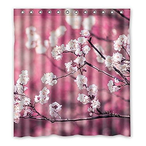 Une fois les jeunes–Peach Blossom imperméable rideau de douche polyester Nature Series avec Vivid Color, rideau de douche Tissu haute qualité Taille: 167,6x 182,9cm (167cm x 183cm), Polyester, I, 66