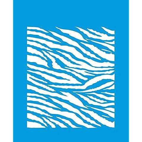 21 cm x 17 cm reutilizable plantilla Flexible de plástico para decorar muebles de pared gráfico aerógrafo diseño de tela de decoración y símbolos - con onda en forma de diseño de diseño de piel de cebra