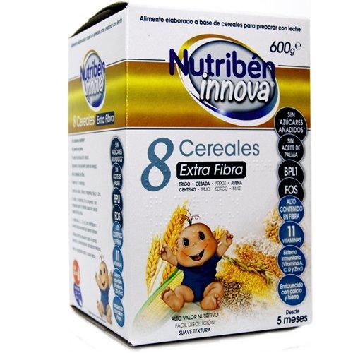 Nutriben innova papilla de 8 cereales extra fibra