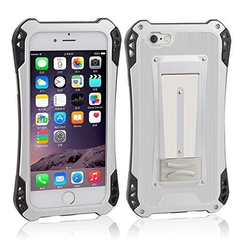 iPhone 6s Case ,iPhone 6 Metal Case ,Topyea Cool Aluminum Metal ABS [Shockproof Dropproof] Full-body Protective Case for iPhone 6s 6 Silver Red Silver /Black