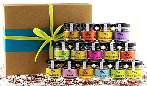Exklusive Gewürzbox mit 15 erlesenen Gewürzen in der Geschenkpackung