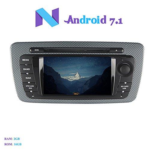 Android 7.1 Autoradio, Hi-azul 2 DIN Radio de Coche 7