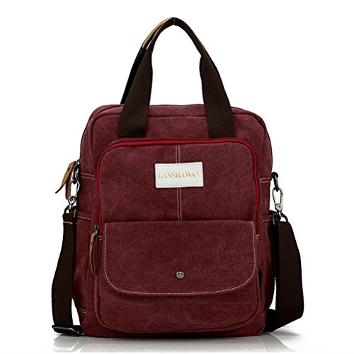 La Nago , Borsa Messenger  Marrone Cachi Bordeaux