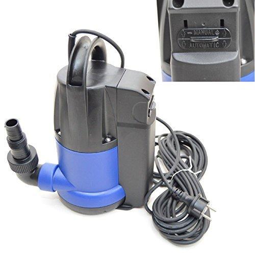 Flachsaugende Tauchpumpe Flachsaugend bis 2-3 mm Schmutzwasserpumpe 7200l/h.Flachsaugende Hochwasserpumpe Automatik + Handbetrieb.