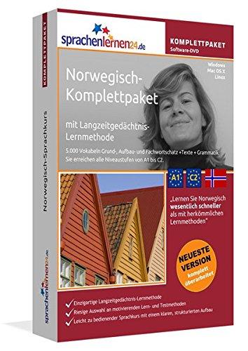 Norwegisch-Komplettpaket: Lernstufen A1 bis C2. Fließend Norwegisch lernen mit der...