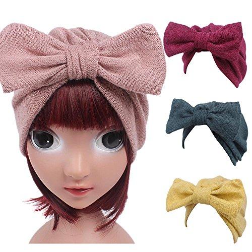 Bowknot Mini diadema elástica venda Turbante Sannysis bebé niñas y niños lindo fotografía accesorios prop de bebe recien nacido sombrero de tejer