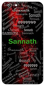 Sannath (Accompanied By A Protector) Name & Sign Printed All over customize & Personalized!! Protective back cover for your Smart Phone : Oppo NEO 7
