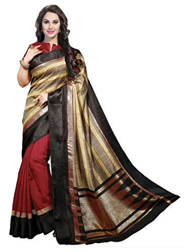 Ishin Faux Georgette Printed Women's Saree  available at amazon for Rs.299