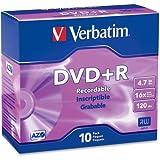 Verbatim America, LLC–Verbatim 95097DVD Recordable Medien–DVD + R–16x–4.70GB–10PACK SLIM CASE–2Stunde Maximum Recording Time 'Produkt Kategorie: Speichermedien/Optisches Media'