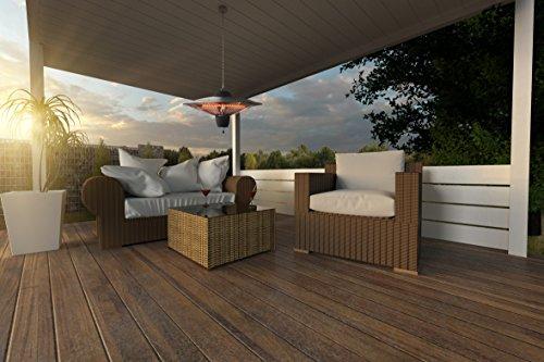 Koll Living Terrassen Deckenheizstrahler 1500W 3101-000 – 2 Stufen wählbar – Infrarot Heizstrahler zur Deckenmontage - 3