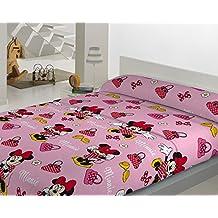 Juego de sábanas coralina Disney Minnie para cama de 90