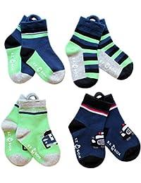 EZ Sox bebé Boys 'calcetines con Easy Pull trabillas y sin dedos