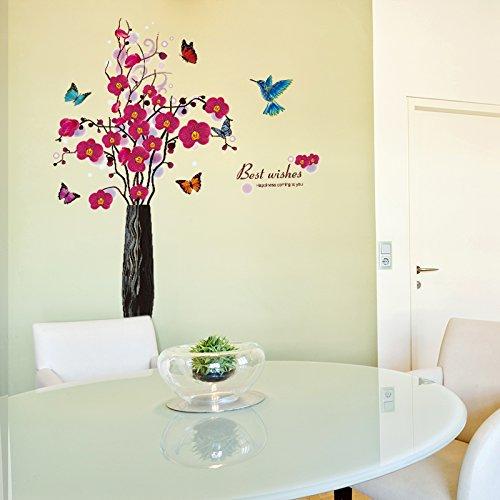 Abnehmbare Simulation Tier Wohnzimmer Vase Phalaenopsis Wandaufkleber Schlafzimmeraufkleber, extra groß (Dschungel-tier-vasen)