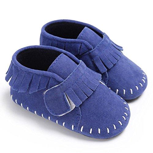 179b80361385de Igemy 1Paar Baby Schuhe Jungen Mädchen Neugeborene Krippe Soft Sole  Sneakers Blau pt8SleY ...