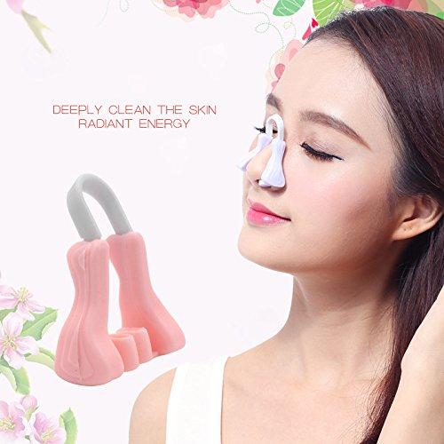 Zantec Naso sollevatore Correzione naso naso massaggiatore sicuro naso alzato clip sollevamento modellatura shapers silicone levigante bellezza correttore naso massaggio strumento di bellezza pink
