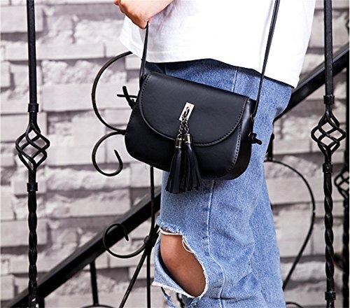 0975259b3efc5 Ammon Lowen Damen Umhängetasche Mini Kreuz Körper Frauen Handtasche Bodybag  Mini kleine Schale Taschen Schwarz