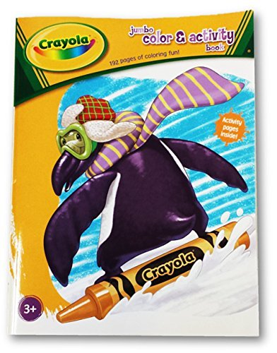 Officially Licensed Crayola Color & Activity Book 192 Pgs. (Penguin Cover)