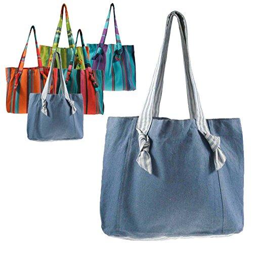 Fair-trade-shopper (maDDma  Umhängetasche handgewobene Baumwolle Fair Trade - Einkaufstasche Shopper Strandtasche, Farbe:314)