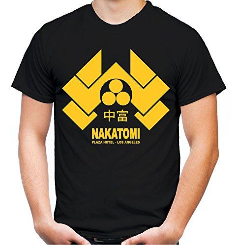 Nakatomi Plaza Männer und Herren T-Shirt | Spruch Stirb Langsam Geschenk (XXXXL, Schwarz) (Kult Film Kostüm Ideen)