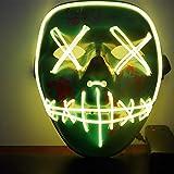 Immoch Halloween LED Máscaras Adultos LED Mask para Fiesta la Navidad...