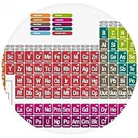 DIYthinker sucinto del Color Lindo química Tabla periódica de Suelo Antideslizante Estera del Animal doméstico Ronda