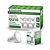 Lampadine LED GU10 5Watt Pari ad alogene da 60Watt 400lm Luce Bianca Calda 3000K Angolo del Fascio di 120 Gradi Confezione da 6 [Classe di efficienza energetica A+]