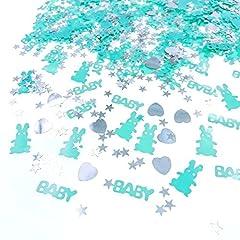 Idea Regalo - JZK 4 x Confezioni coriandoli blu battesimo bambino decorazione tavolo compleanno nascita battesimo comunione cresima baby shower festa bimbo neonato