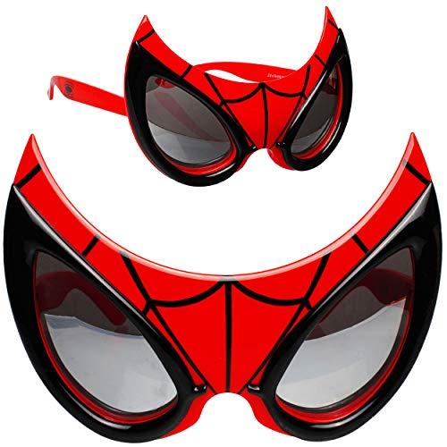 Kostüm Jahre 10 9 Spiderman - alles-meine.de GmbH 3D Effekt - Sonnenbrille - Spider-Man - 3 bis 12 Jahre - 100 % UV Schutz - UV 400 - polarisiert verspiegelt / extrem stabil - Brille - für Kinder Jungen - Kin..
