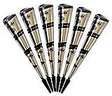 Originale Natürliche Kegel Cones für Temporäre Mehndi Tattoos (Schwarz)