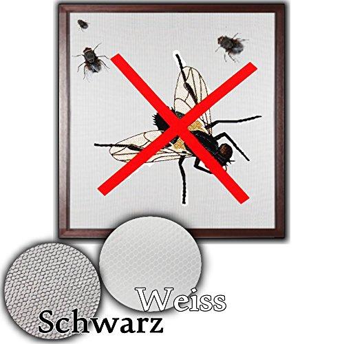 Preisvergleich Produktbild Fenster Fliegengitter Fliegennetz 130 x 150 cm Insektenschutz (Schwarz)