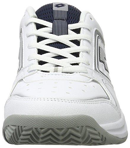 Lotto Sport T-Tour Ix 600, Chaussures de Tennis Homme Blanc (Wht/slv Mt)