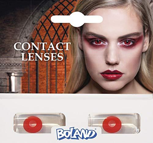 Boland Farbige Kontaktlinsen für 3 Monate, Teufel, rot, Ohne Sehstärke, Monatslinsen, 2 Stück