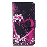 HUANGTAOLI PU Leather Wallet Protective Flip Case Cover for