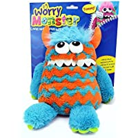Worry Monster Plush Soft Toy blue & orange