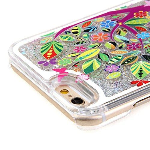 iPhone 7 Hülle Transparent,iPhone 7 Hülle Glitzer,iPhone 7 Case Slim,Schutzhülle Für iPhone 7 Hülle Transparent Hardcase,EMAXELERS 3D Kreative Liquid Bling Kristall Glitzer Hülle Case Für iPhone 7,iPh Heart Dandelion 10