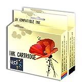 UCI 2 cartuchos de tinta Remanufactured reemplazado HP 21 22 para HP Impresora ( No-Original )