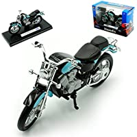 Honda Shadow Vt1100c Vt 1100 C Vt1100 1100c Blau Schwarz 1/18 Welly Modellmotorrad Modell Motorrad