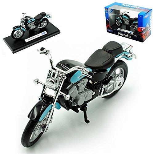 Shadow Honda Motorrad (Honda Shadow Vt1100c Vt 1100 C Vt1100 1100c Blau Schwarz 1/18 Welly Modellmotorrad Modell Motorrad)