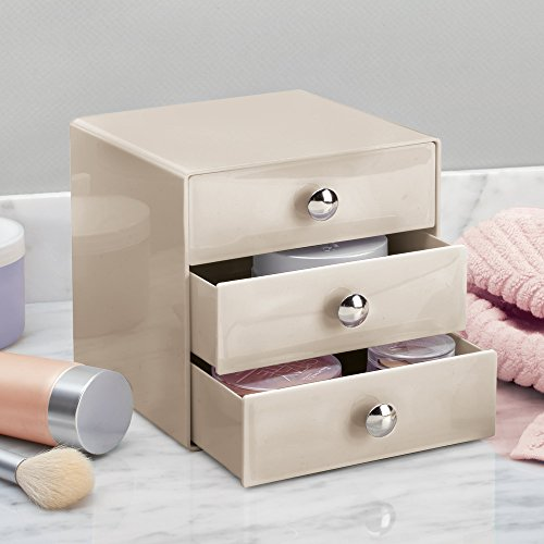 InterDesign Drawers Storage Box with Drawers for Make-Up, Compact Cosmetic Organiser for Countertops or Wardrobes