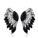 WANGLETA Stud Earrings gota aretes de Regalo para la mujer pendientes temperamento discotecas Insertar taladro roscado oreja en abanico la sexy estrellas caen en el oído