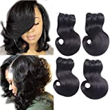 Brazilian Virgin body Hair 2 Bundles Body Wave 100g Unprocessed Natural Color 100% Human Hair Extensions (8 8 inch)