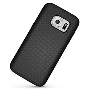 Galaxy S7 Case, Celkase™[360 Degree Potection], Hybrid Dual Layer Silicone Bumper Slim Fit [Antiskid] Protective Cover for Samsung Galaxy S7 (Black)