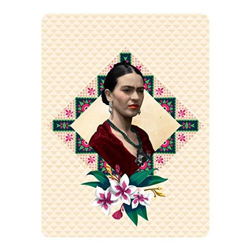 Bilderwelten Selbstklebendes Wandbild Folie Frida Kahlo Blumen und Geometrie 72 x 54cm